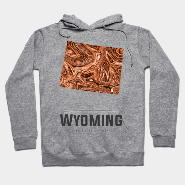 Wyoming state map abstract brown