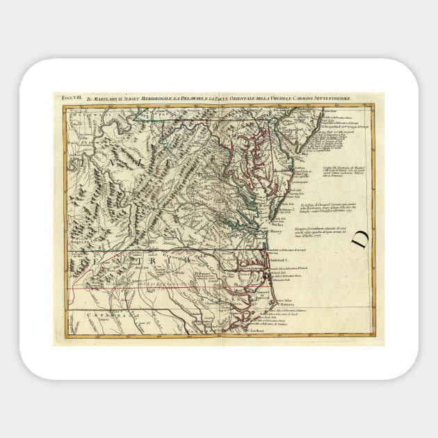 Mid Atlantic States Map.Vintage Map Of The Mid Atlantic States 1778 Mid Atlantic States