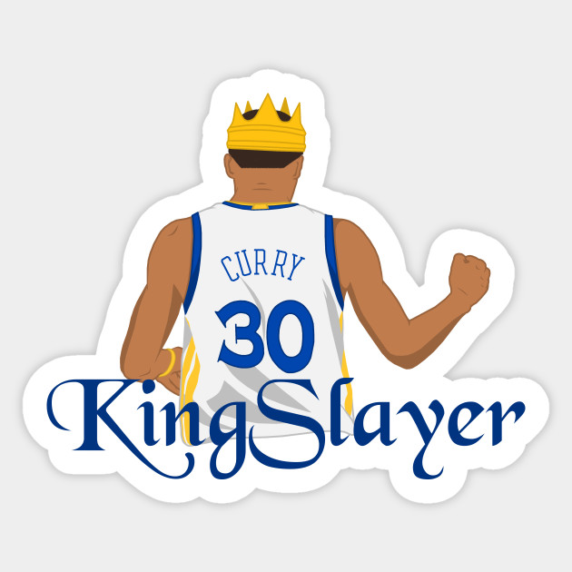 Kingslayer Steph Curry Sticker Teepublic