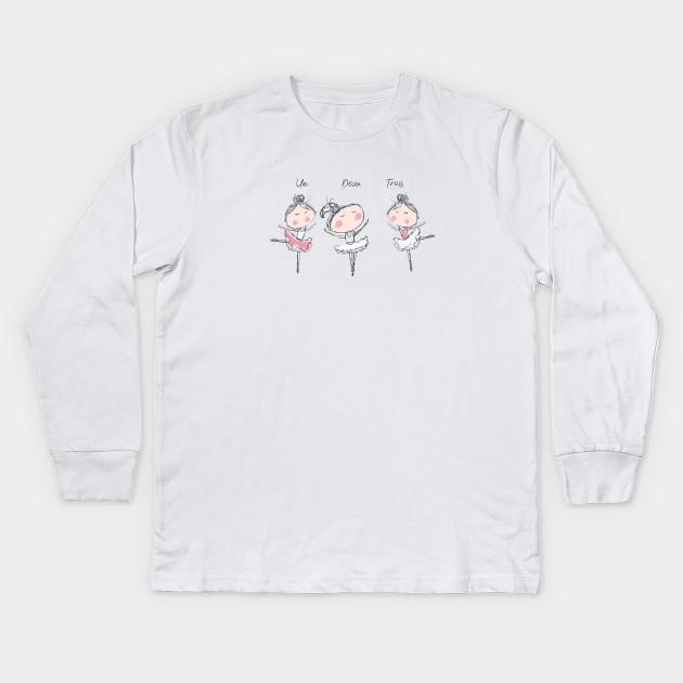 861897b3 Little ballerinas Kids Long Sleeve T-Shirt. New!Back Print. Little  ballerinas Little ballerinas