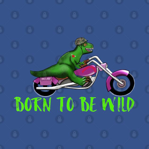 Wild Motorbike Tyrannosaurus Dinosaur