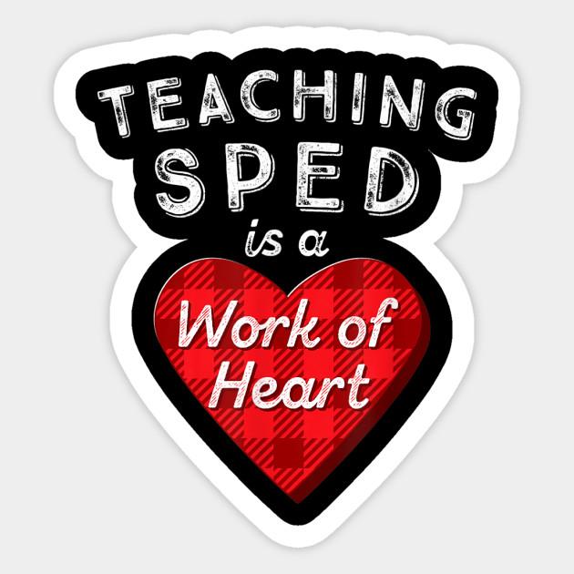 SPED Teacher Gift Valentines Day Plaid Work of Heart by ashrafzyanova1977