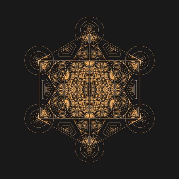 Fractal Metatron's Cube Orange