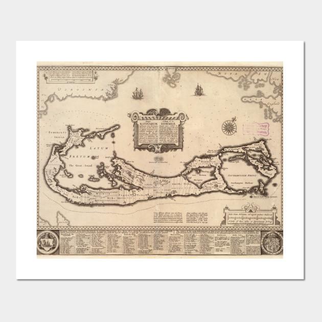 Vintage Map of Bermuda (1626)