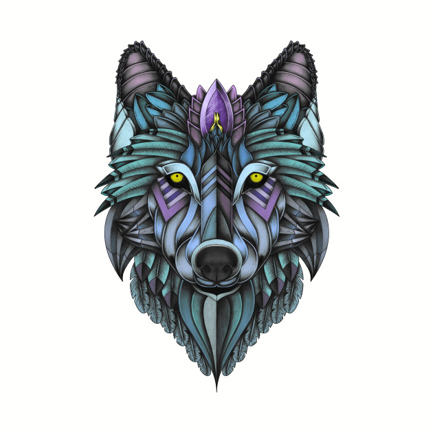 Ornate Wolf (colored)