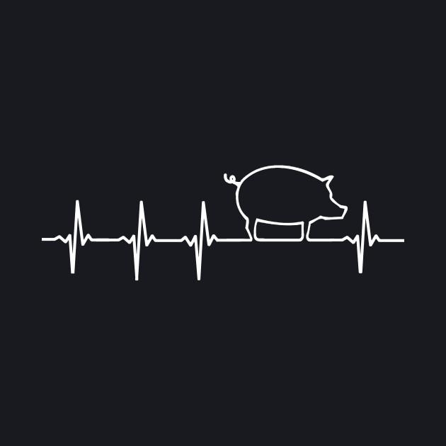 PIG Heartbeat EKG Shirt I Love My Piggy Heart