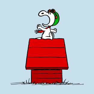 Snoopy: Curse You Red Baron! t-shirts