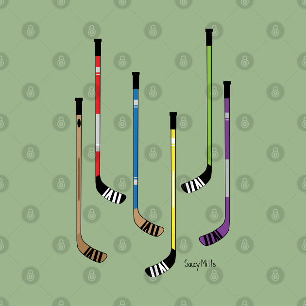 Colorful Hockey Sticks
