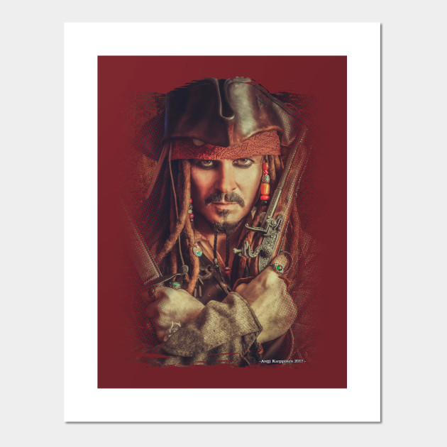 PIRATES OF THE CARIBBEAN JACK SPARROW JOHNNY DEPP WALL ART POSTER A1 -A5 SIZES