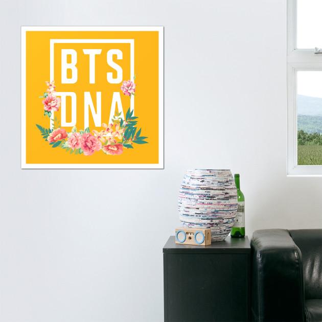 BTS dna floral 2 - Bts Dna Floral - Posters and Art | TeePublic