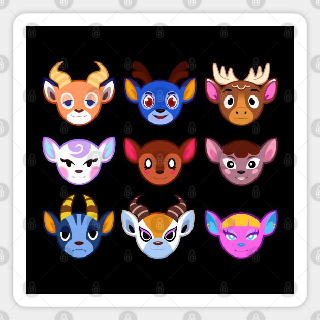 Deer Villagers Animal Crossing New Horizons Magnet Teepublic