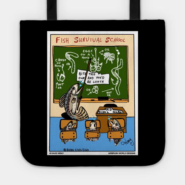 Fish Survival School Funny Fishing Novelty Gift