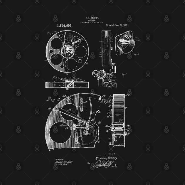 Motion Picture Film Reel Canister Patent 1915