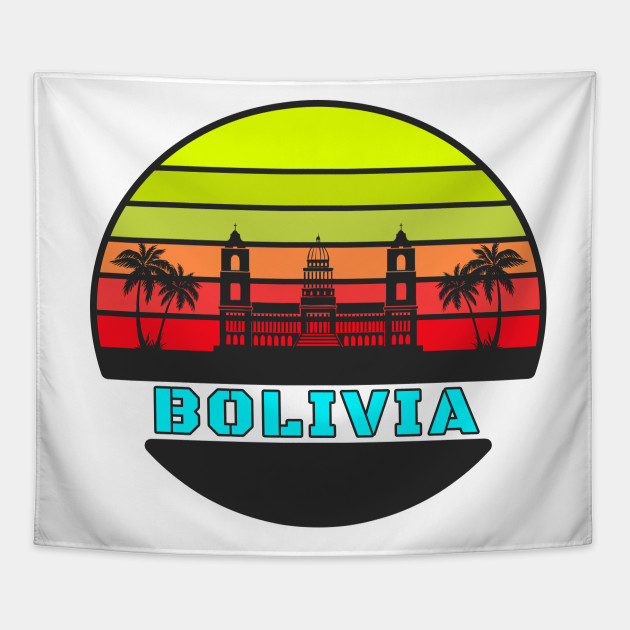 Bolivia Palms in the sunset / Gifts South America Tapestry
