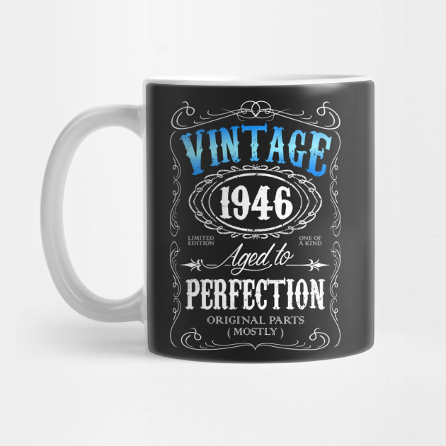 Vintage 1946 Aged To Perfection 70th Birthday Gift For Men 70 Mug