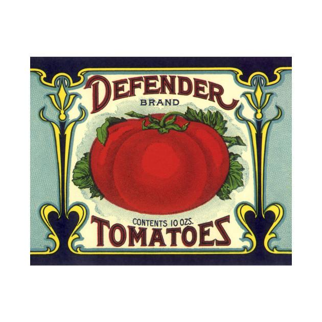 Vintage Defender Tomatoes Label