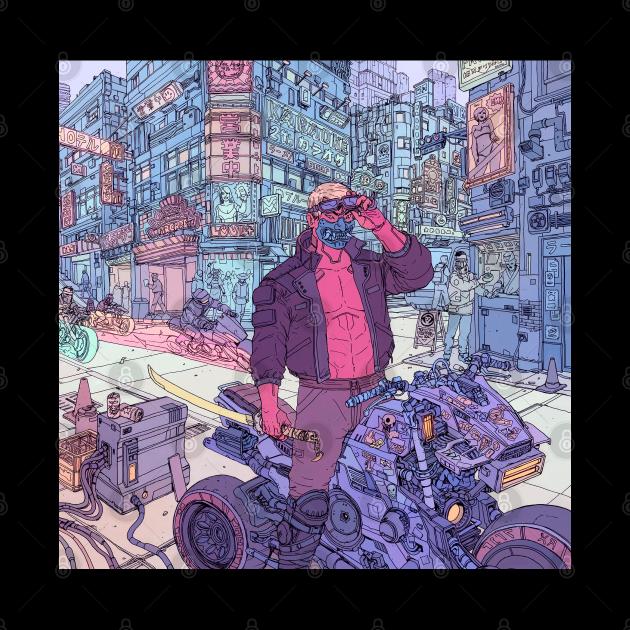 Cyberpunk Biker Gang