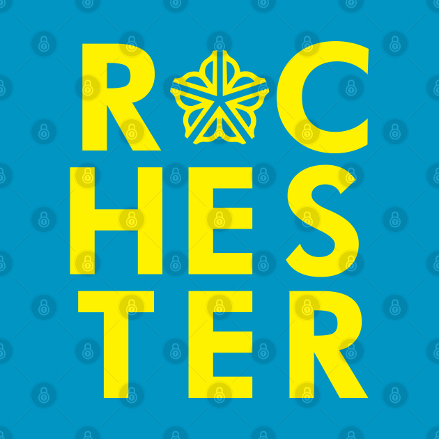 Officially Licensed Typographic Rochester Logo
