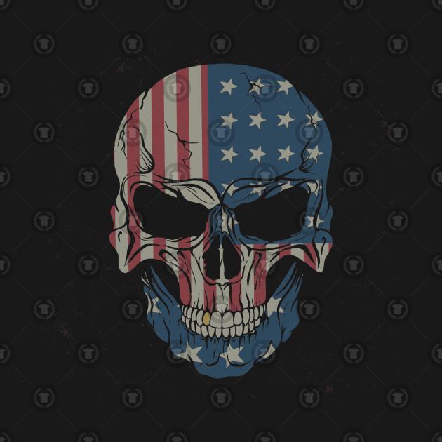 Skull American Flag Skull American Flag