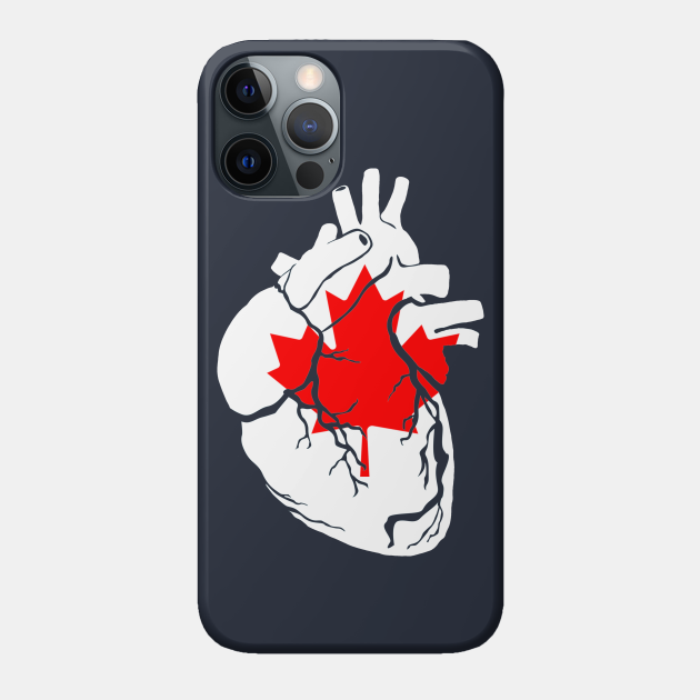 Anatomical heart design, Canadian flag
