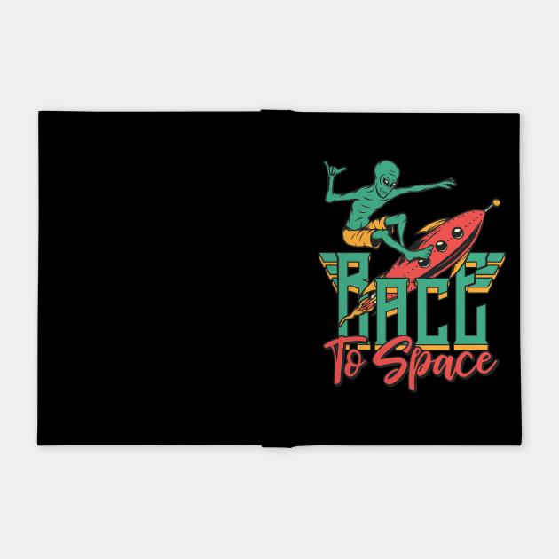 Alien Race To Space Rocket Surfing