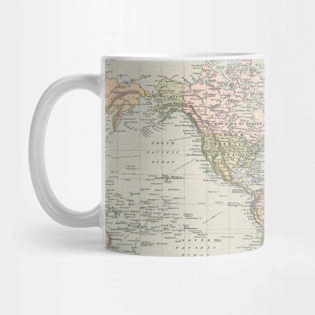 1892 Map Of The World.Vintage Map Of The World 1892 World Map Mug Teepublic