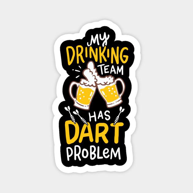 Dart Player T-Shirt aim beer throw goal gift