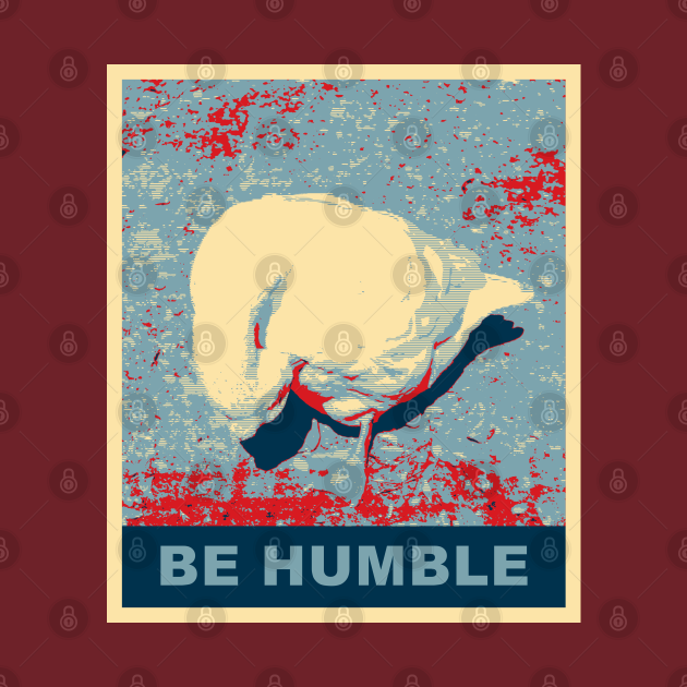 Be Humble Goose With The Head Bowed