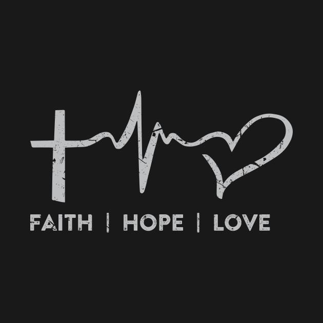 Faith Hope Love Symbols Christian Design Christian T Shirt