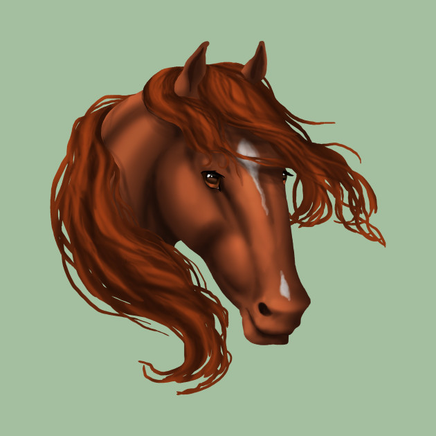 Horse Head - Sorrel Star Snip