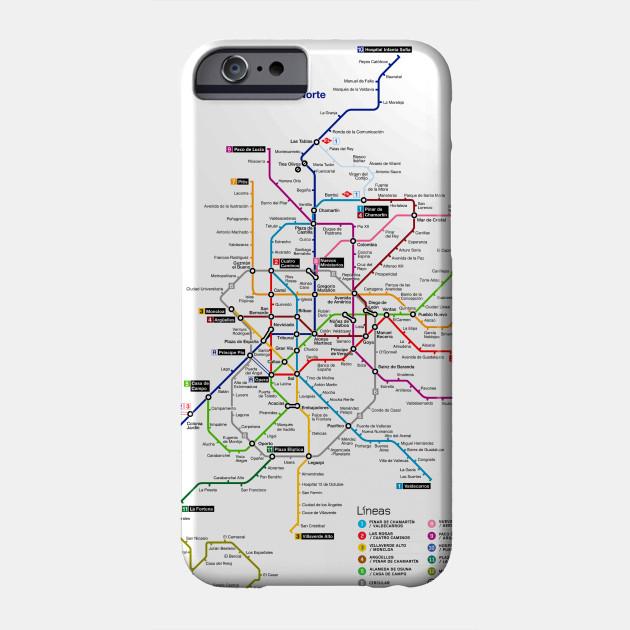 Subway Map Phone.Madrid Subway Map