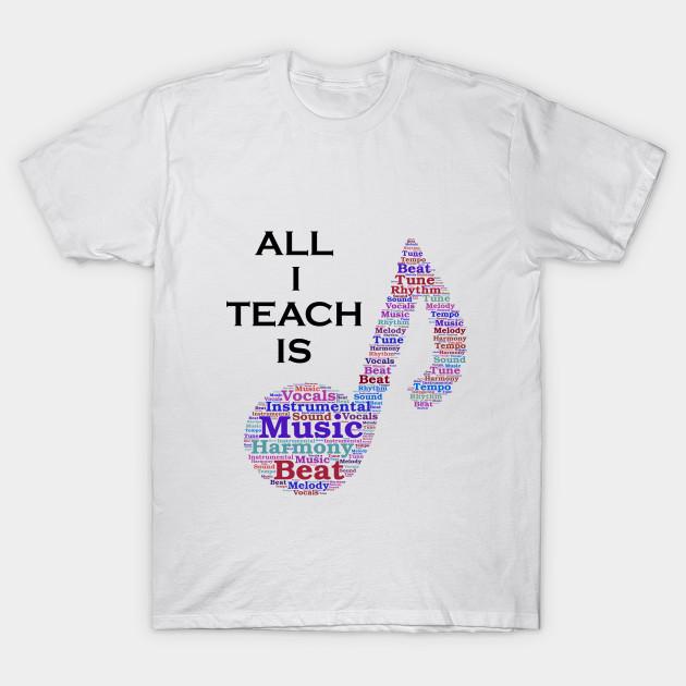 410b6d1f91 More than just a Music Teacher Shirt - Music - T-Shirt | TeePublic