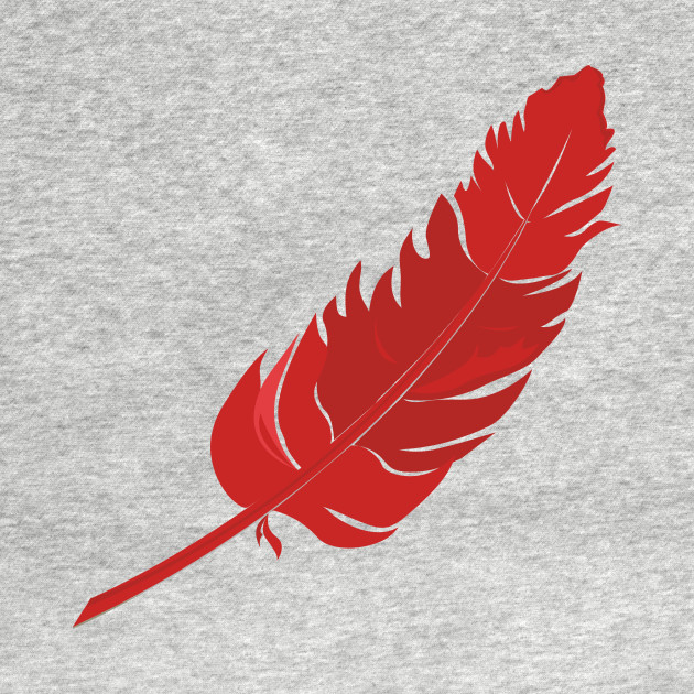 Red Parrot Feather