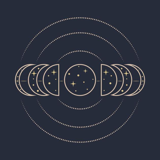 Moon phases line art design