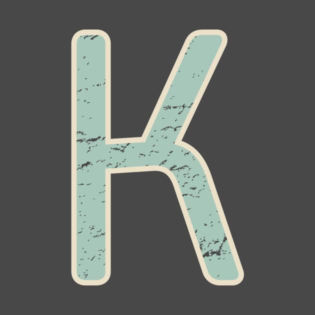 Vintage Retro Initial K Monogram