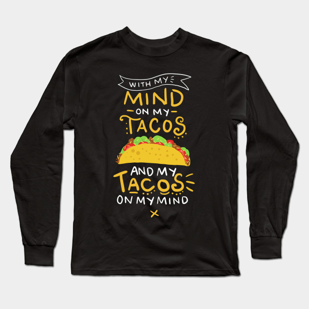 Tacos Childrens Long Sleeve T-Shirt Boys Cotton Tee Tops