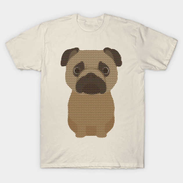 Pug Pugly Christmas Sweater Knit Pattern - Pugly Christmas Sweater ...