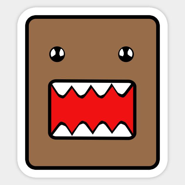 domo monster domo kun sticker teepublic