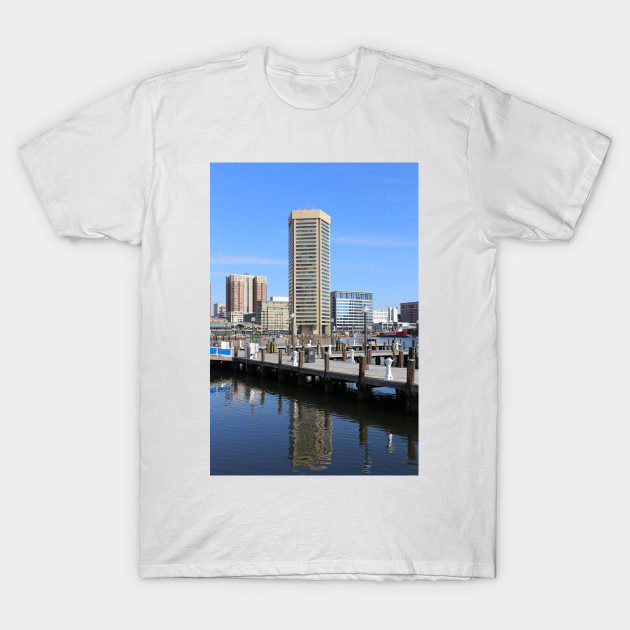 Baltimore's Inner Harbor and World Trade Center T-Shirt by Christine aka stine1