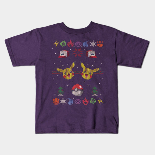 Ugly Pokemon Christmas Sweater - Pokemon - Kids T-Shirt | TeePublic