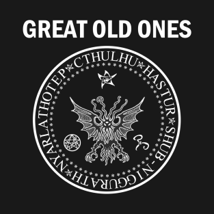 Seal of the Great Old Ones - White t-shirts