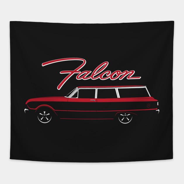 Red 63 Falcon 2 Door Wagon
