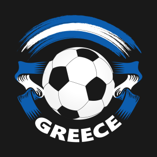 Greece Soccer Fan Shirt with Greek Flag and Football t-shirts