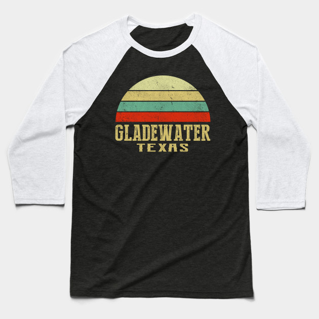 GLADEWATER, TEXAS Vintage Retro Sunset Shirt