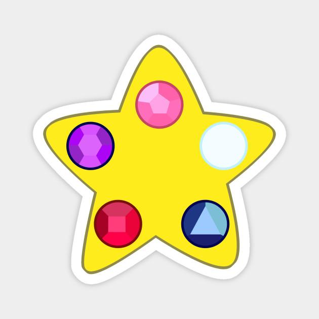 Steven Universe Gem Door Crystal Gems Magnet Teepublic