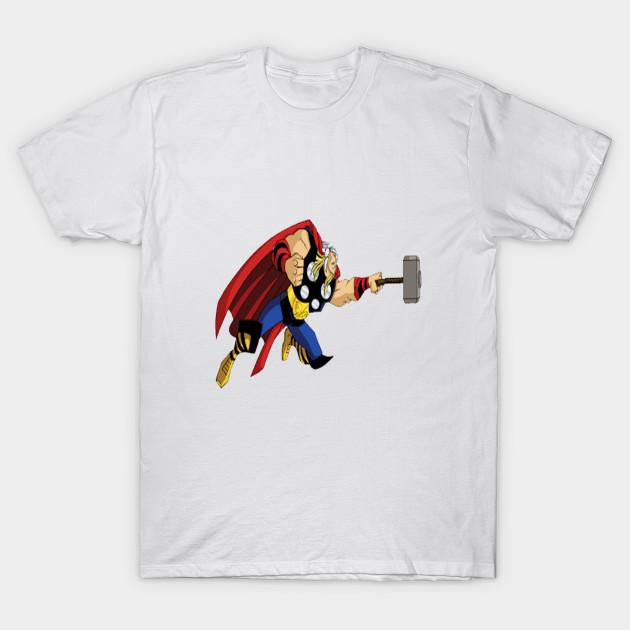 thor holding a hammer thor holding a hammer t shirt teepublic