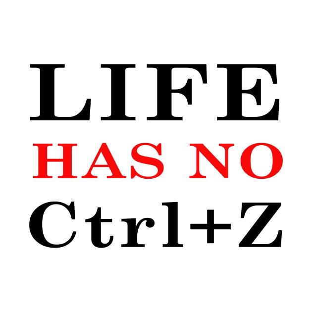 Life has no Ctrl+Z !
