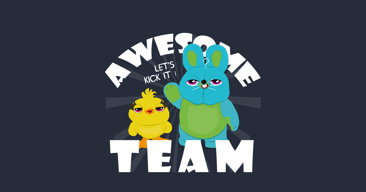 Awesome Bunny and Ducky - Toy Story 4 - T-Shirt | TeePublic