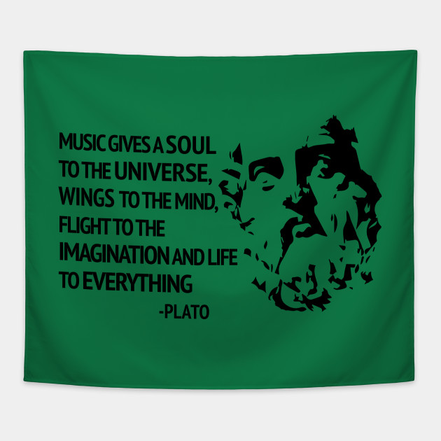 Plato Quote About Music Music Tapestry Teepublic