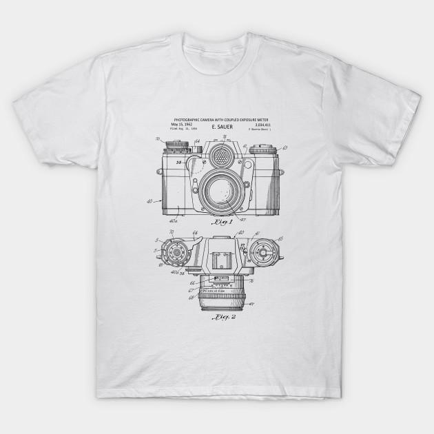 Vintage Camera Patent Print 1962 T Shirt
